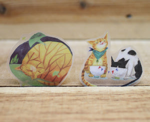 Mia Cats Waterproof Transparent Sticker Flakes