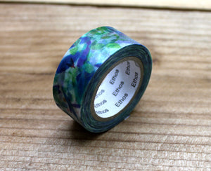 Mia Blue Flower Washi Tape Roll
