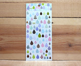 Ethos Card Originals Colorful Blue Raindrop Version 1 Gold Foiled Sticker Sheet