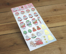 Load image into Gallery viewer, Machiko Gold Foiled Sticker Sheet Christmas