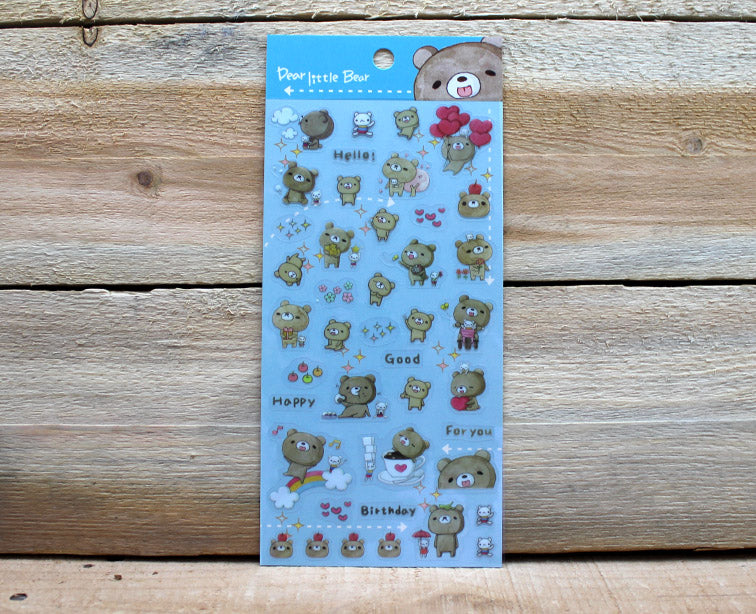 Dear Little Bear Transparent Sticker Sheet Version 3