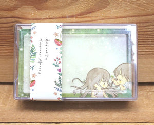 Amy and Tim Message Cards with Plastic Case Version 1