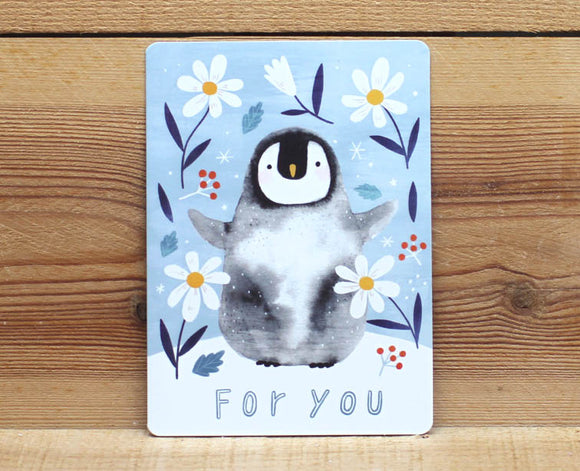 Cindy Chu For You Card Penguin