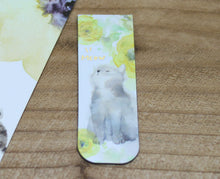 Load image into Gallery viewer, Liang Feng Watercolor Magnetic Bookmark Cat Yellow