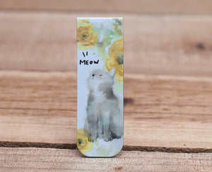 Liang Feng Watercolor Magnetic Bookmark Cat Yellow