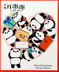 Xie Xie Panda Sticky Note Die-cut