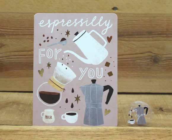 Cindy Chu Espressilly For You Card Coffee
