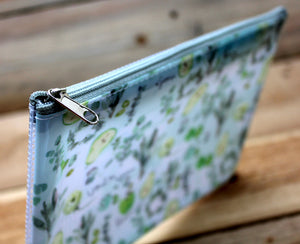 Liang Feng Plastic Zipper Pouch Green Leaves