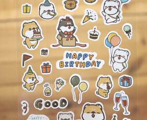 Hi John Sticker Sheet Happy Birthday