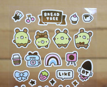 Load image into Gallery viewer, Bread Tree Sticker Sheet Gold Foiled