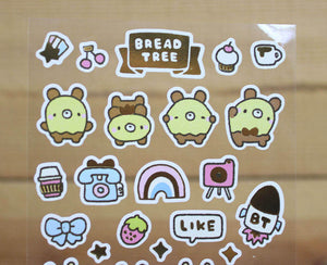 Bread Tree Sticker Sheet Gold Foiled