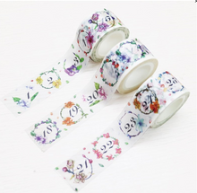 Load image into Gallery viewer, C.Ching Daily Number Day Flower Washi Tape Roll 3 in a Set