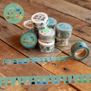Soupy Small People Illustration Washi Tape Roll