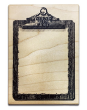 Load image into Gallery viewer, Keep a Notebook Wooden Rubber Stamp A B C