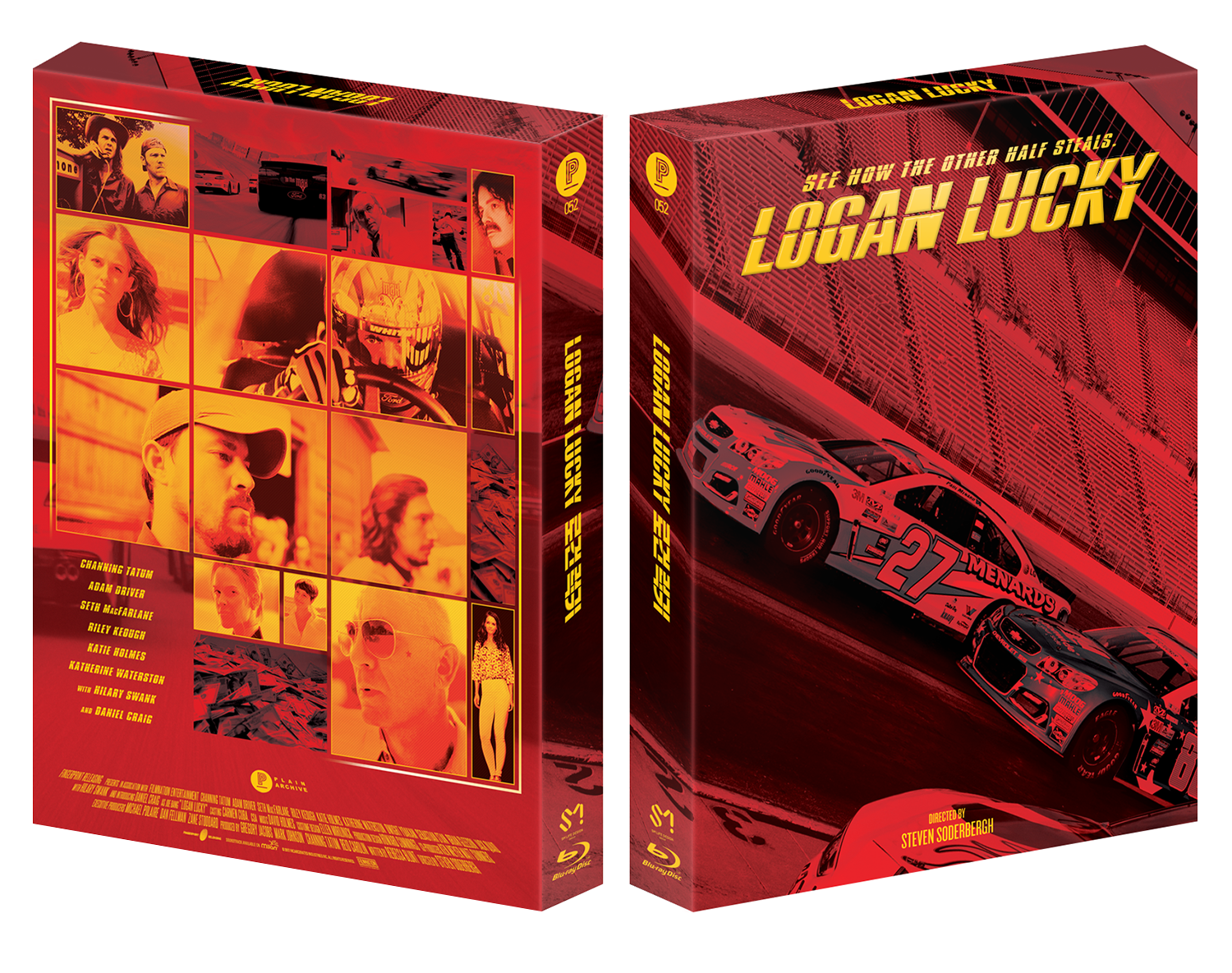 LOGAN LUCKY Blu-ray Steelbook: Triple Pack
