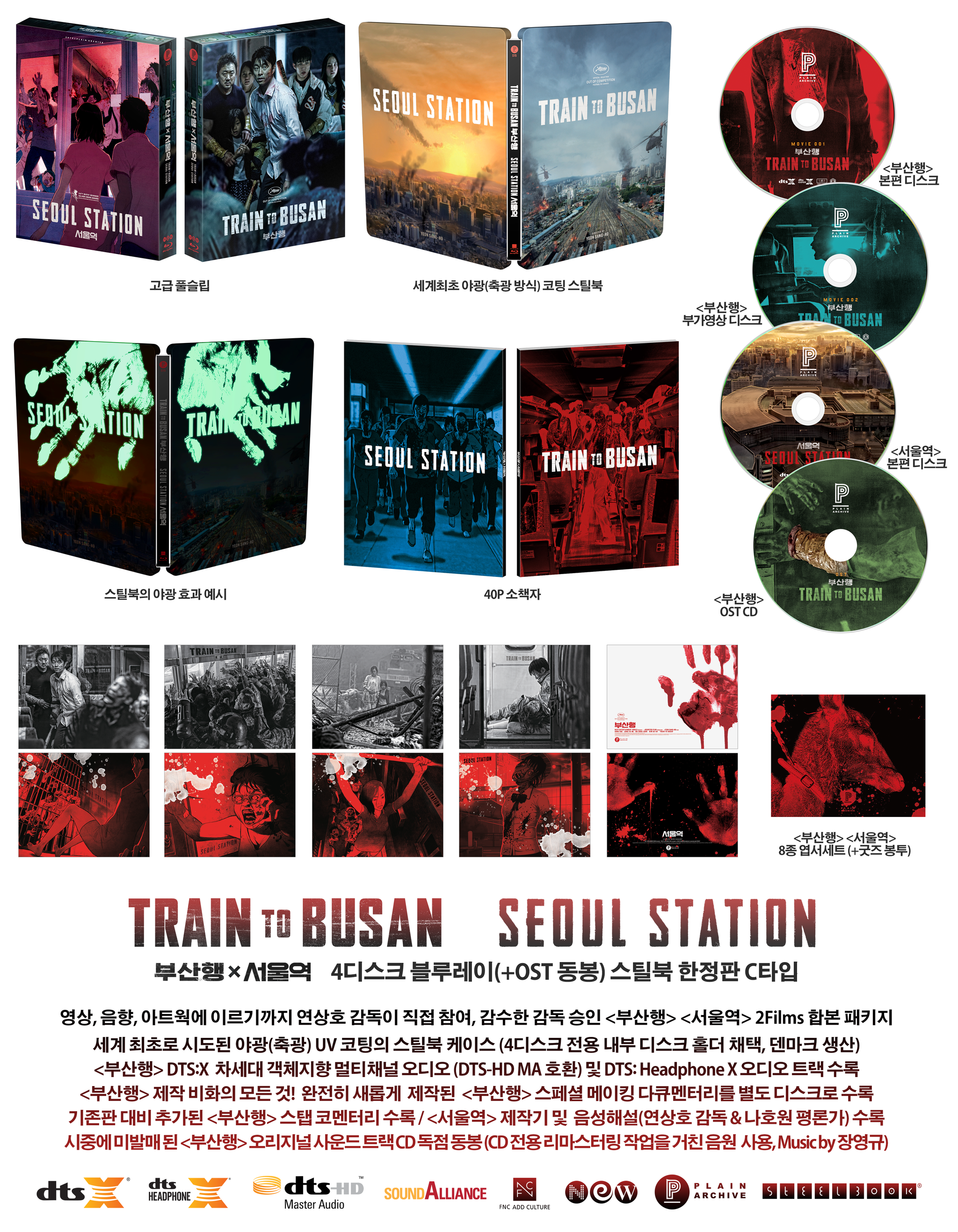 Train to Busan × Seoul Station Steelbook: Full Slip (Type C)