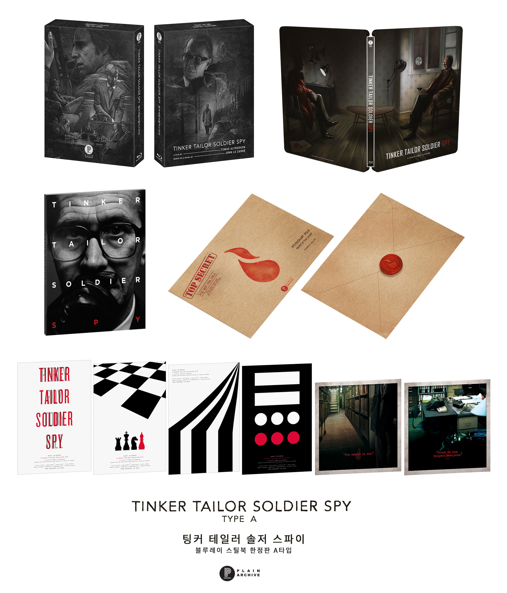 TINKER TAILOR SOLDIER SPY Steelbook : Full Slip A