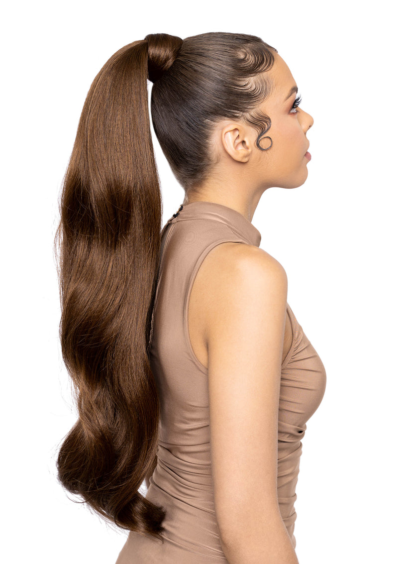 "Gemma - 26"" Curl - Medium Brown Combo"