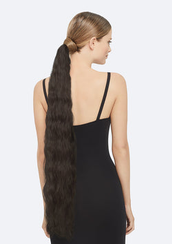 Crimpy Ponytail On Band - The Lily - Black Brown