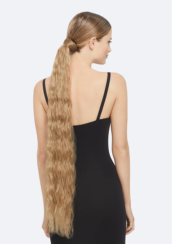 Crimpy Ponytail On Band - The Lily - Dark Blonde