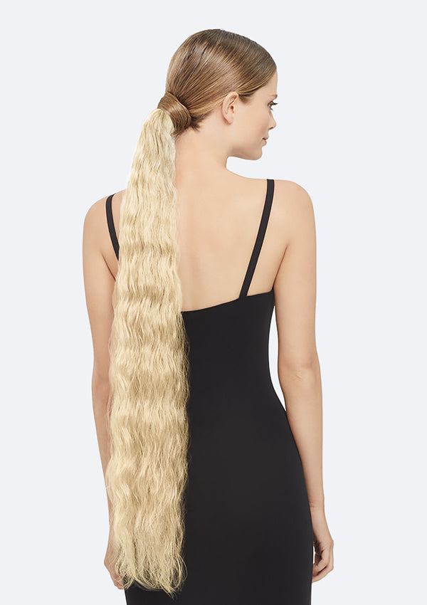 Crimpy Ponytail On Band - The Lily - Light Blonde