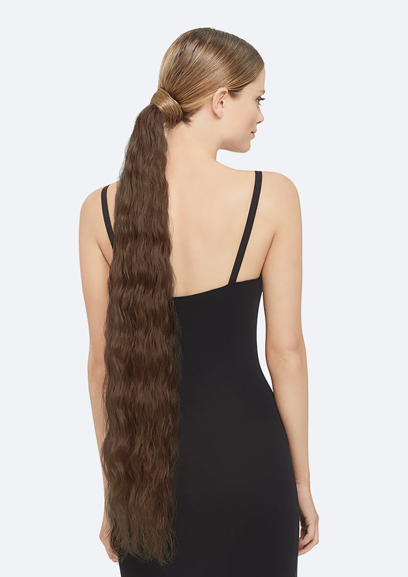 Crimpy Ponytail On Band - The Lily - Light Brown