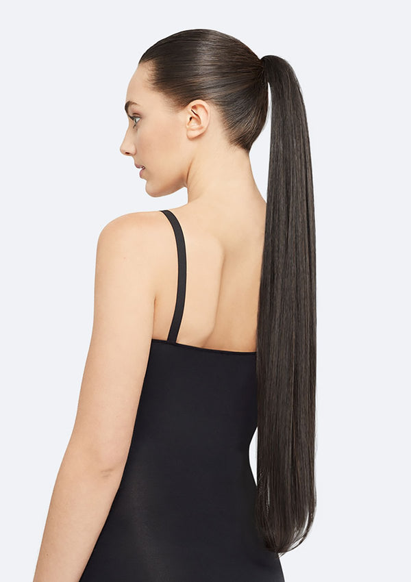 Straight Ponytail On Band - The Lucy - Black Brown