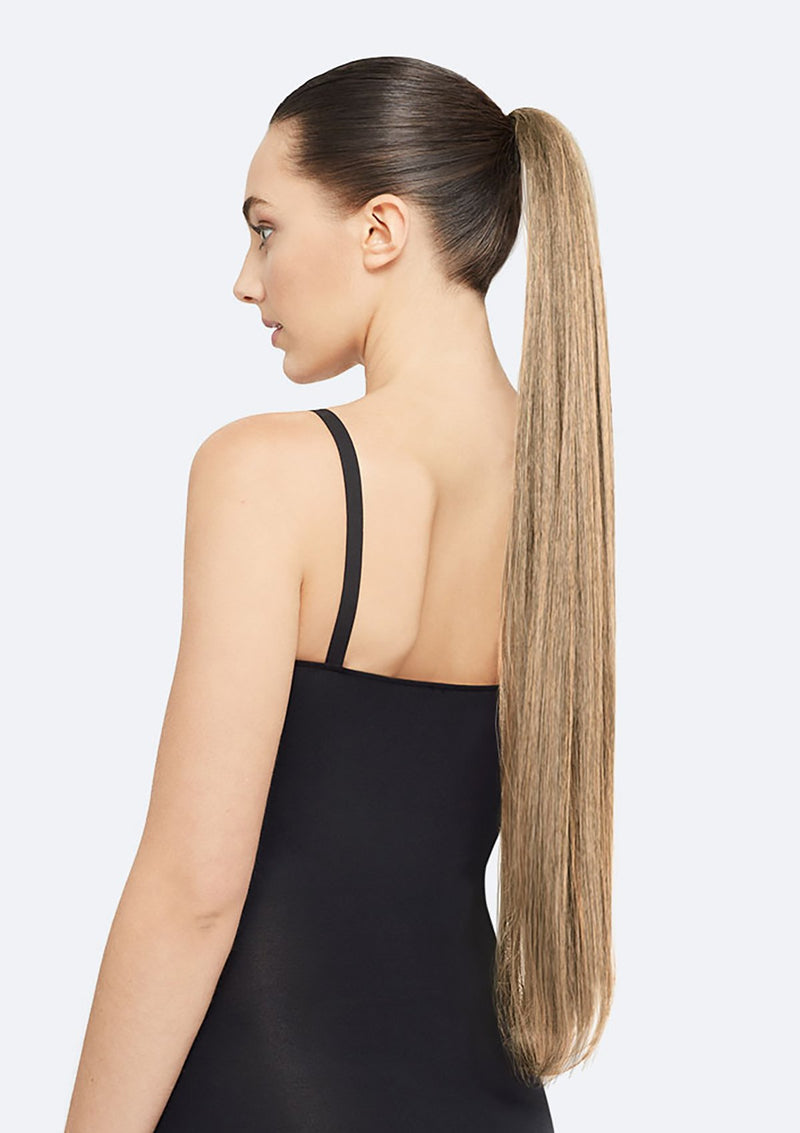 Straight Ponytail On Band - The Lucy - Dark Blonde