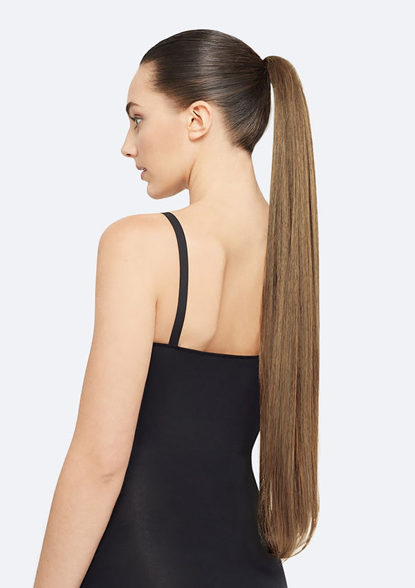 Straight Ponytail On Band - The Lucy - Golden Brown