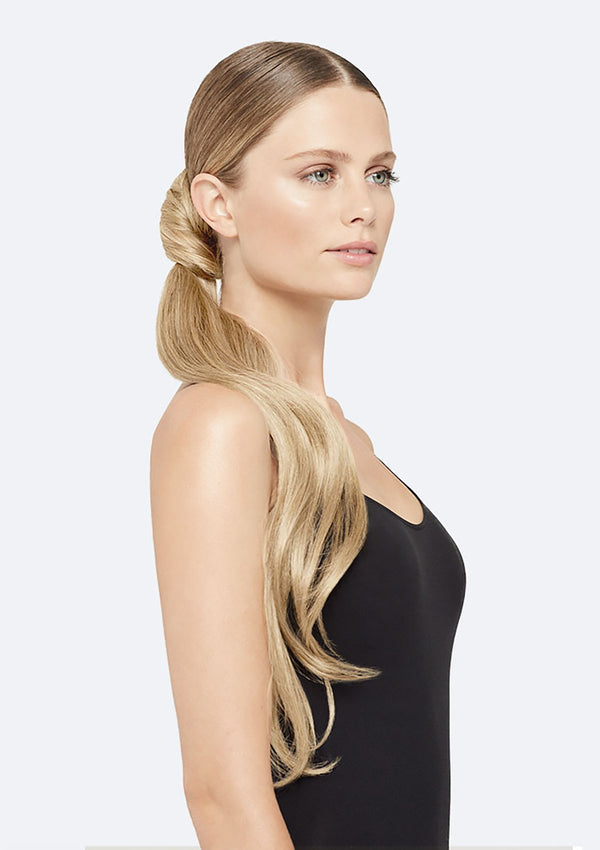Straight Ponytail On Band - The Lucy - Medium Blonde