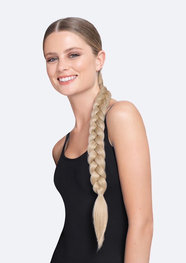 Thick Braid On Band - The Poppy - Blonde Combo
