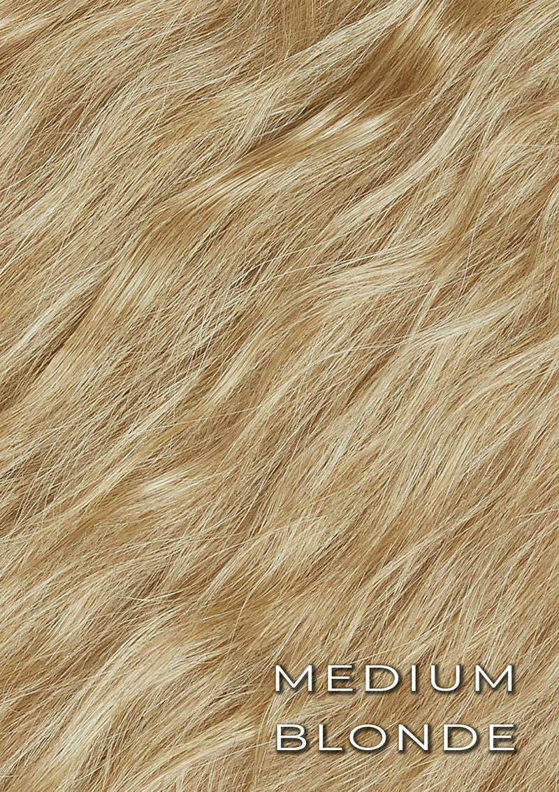 Crimpy Ponytail On Band - The Lily - Medium Blonde