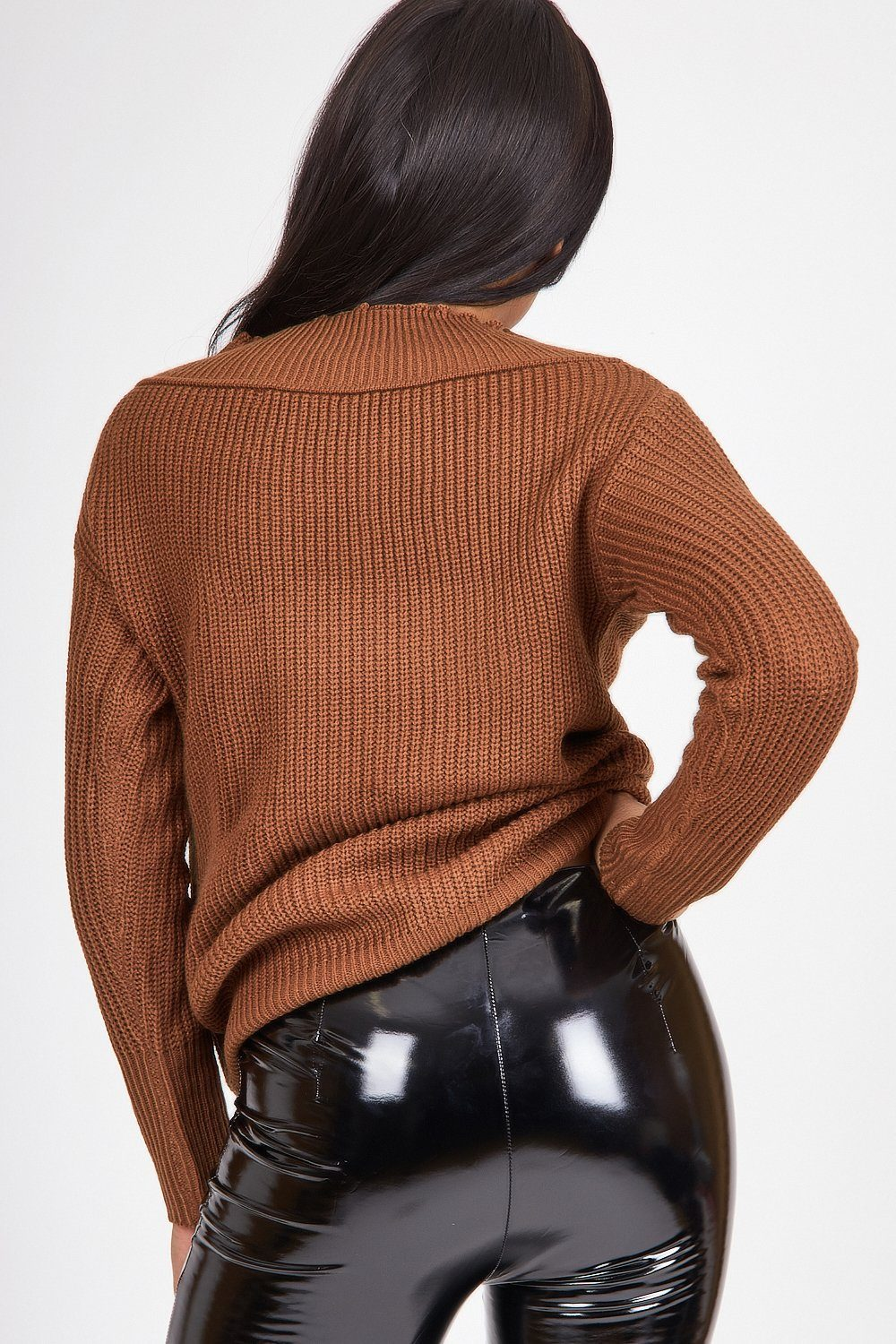 Brown Ribbed Knitted Jumper - Tiny Town Essentials