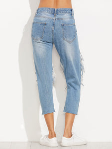 Blue Distressed Skinny Jeans - Tiny Town Essentials