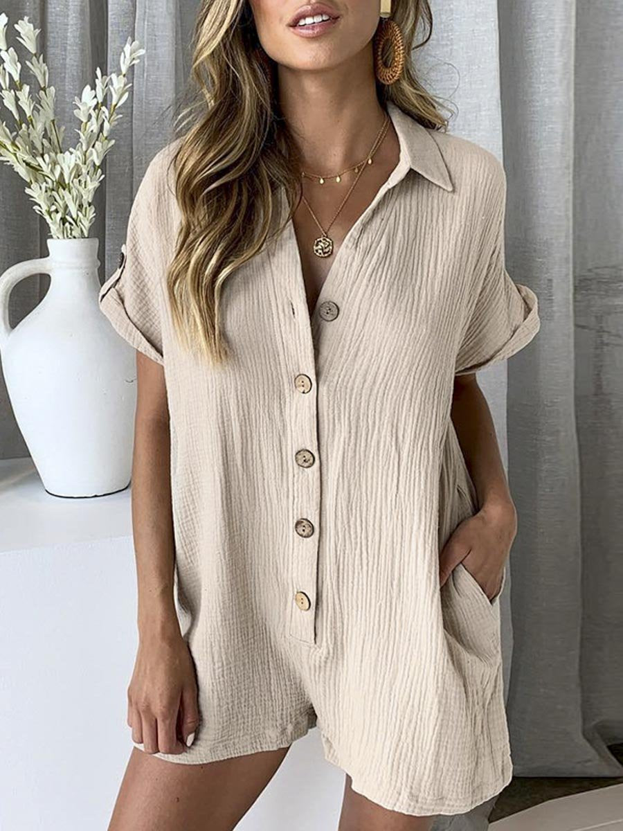 Casual Teddy Summer Playsuit - Tiny Town Essentials