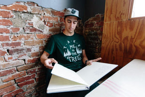 The Trees Tee-Emerald Triblend - Tiny Town Essentials