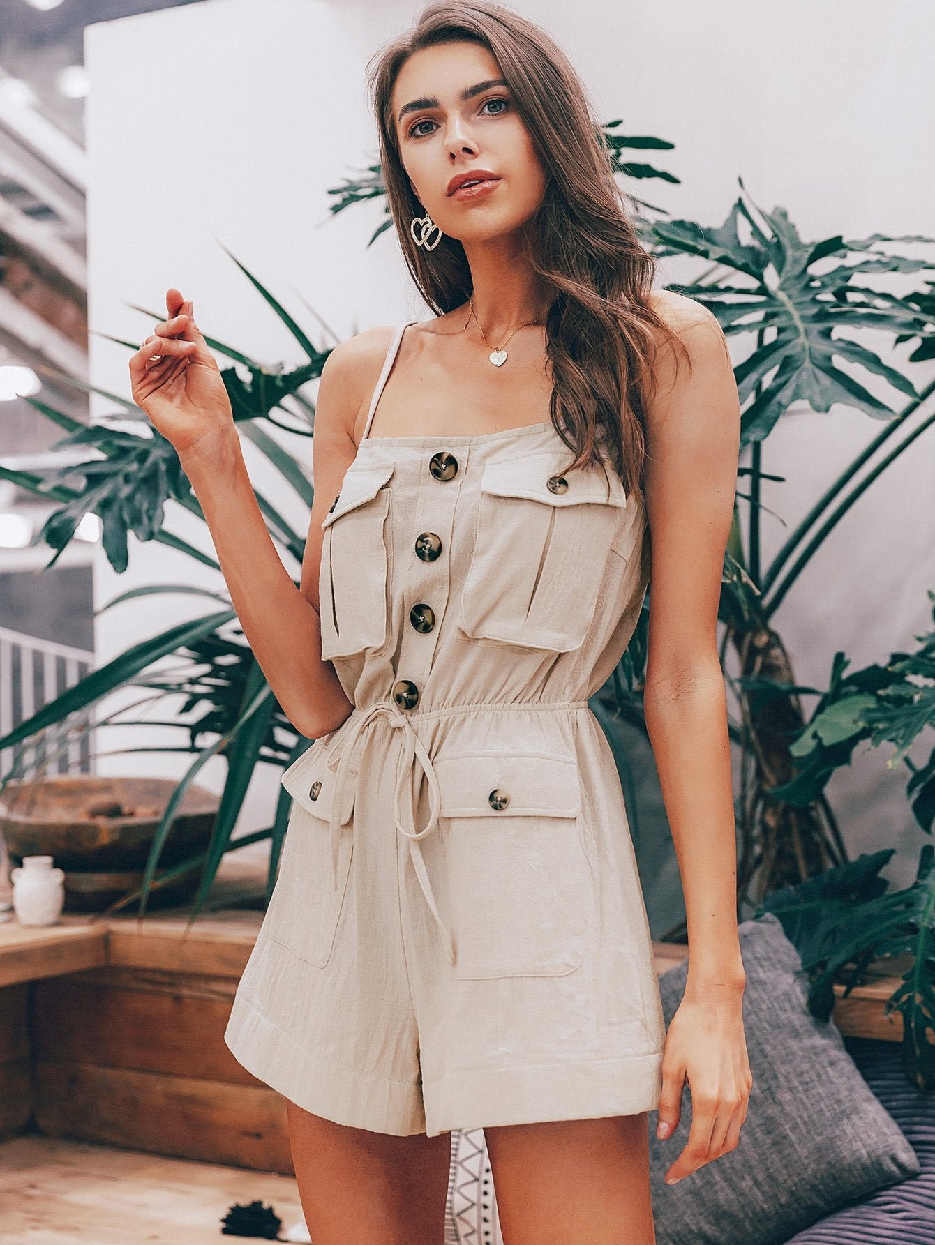 Casual Cream Romper - Tiny Town Essentials