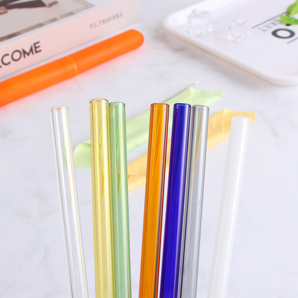 Reusable Glass Drinking Straws - Tiny Town Essentials