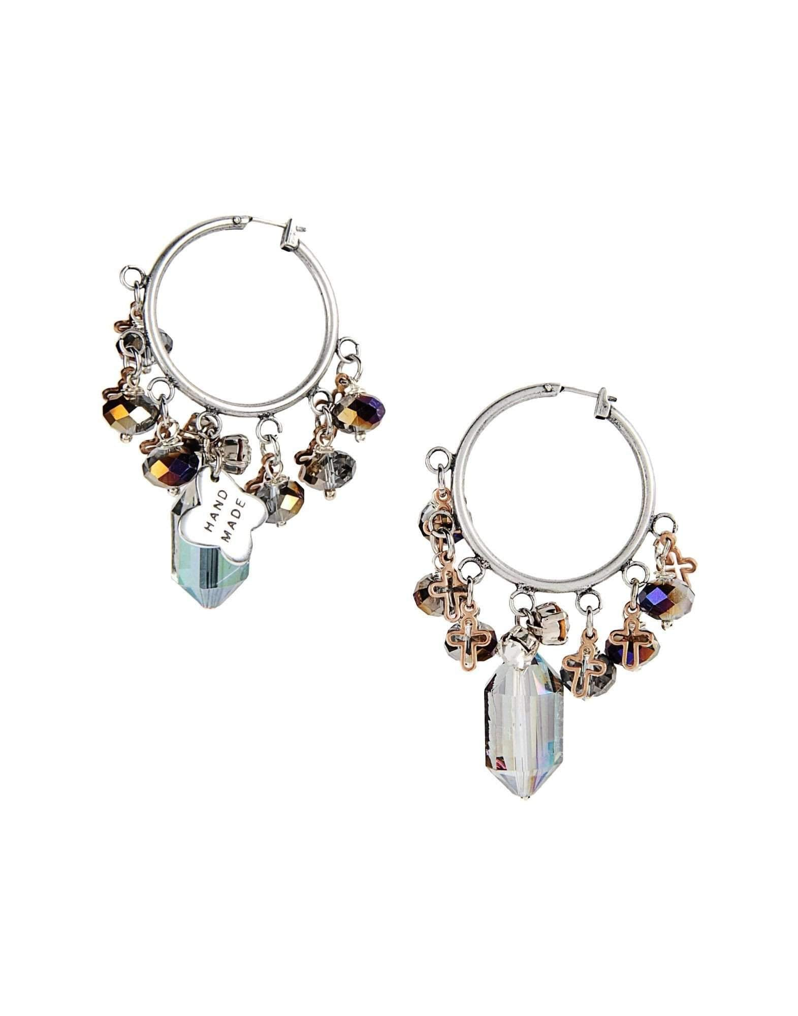 Hoop earrings with multicoloured charms - Tiny Town Essentials