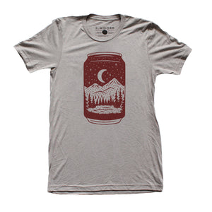 Can Tee-Gray Triblend - Tiny Town Essentials