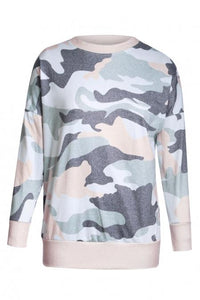 Fashion Khaki Green Digital Camo Print Sweatshirt - Tiny Town Essentials