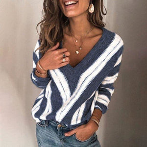 Long Sleeve Jumper Striped Knitted Pullover - Tiny Town Essentials