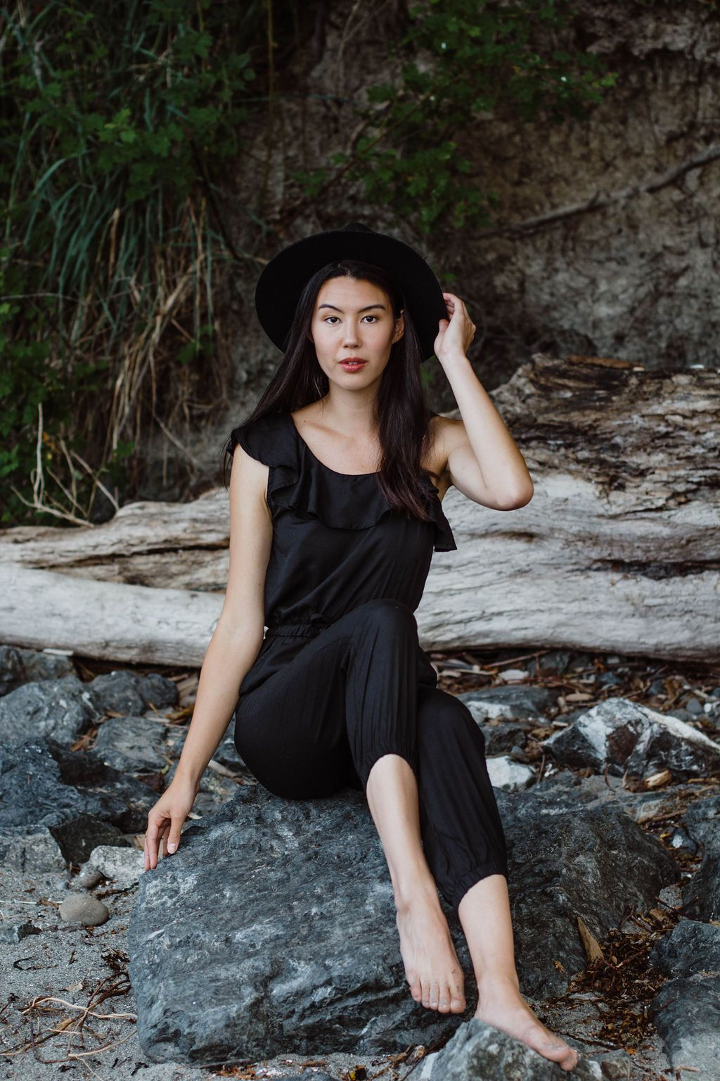 Amelia Jumpsuit | Black - Tiny Town Essentials