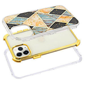 Blue Gold Marble  TUFF Hybrid phone case for iPhone 11 Pro - Tiny Town Essentials