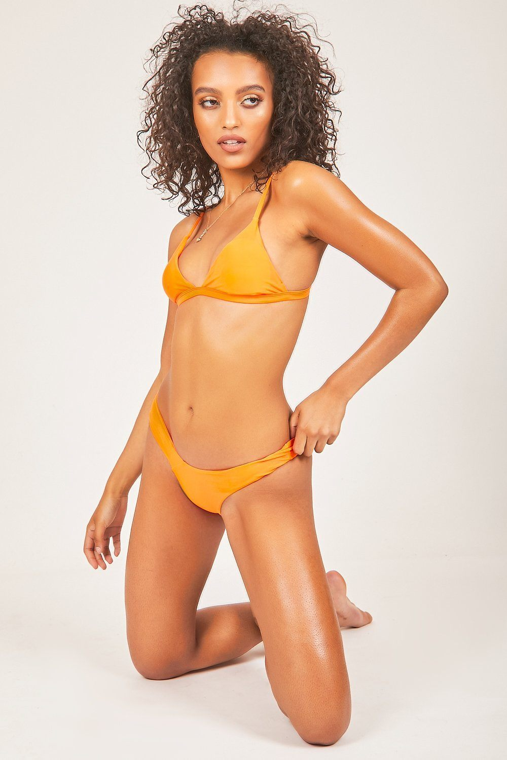 Orange Triangle Bikini Set - Tiny Town Essentials