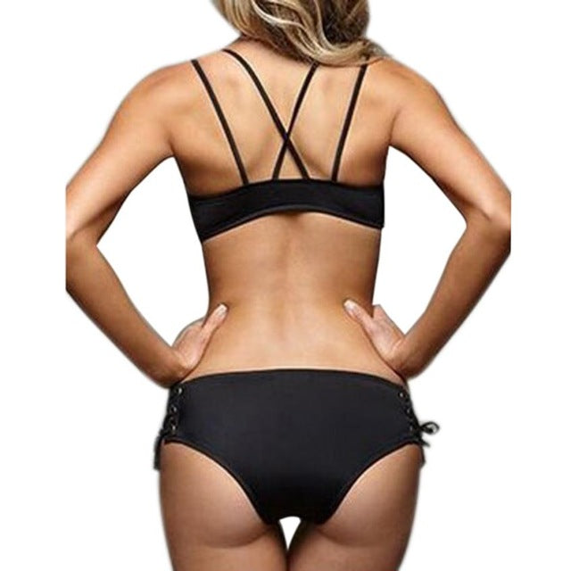 Magnificent Sexy Women Bandage Push-up Bikini Set - Tiny Town Essentials