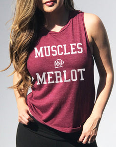 Muscles & Merlot Muscle Tank Top - Tiny Town Essentials