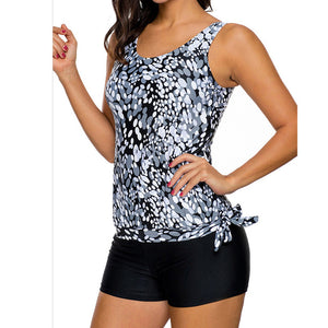 New Plus Size Women Tankini Sets With Boy Shorts - Tiny Town Essentials