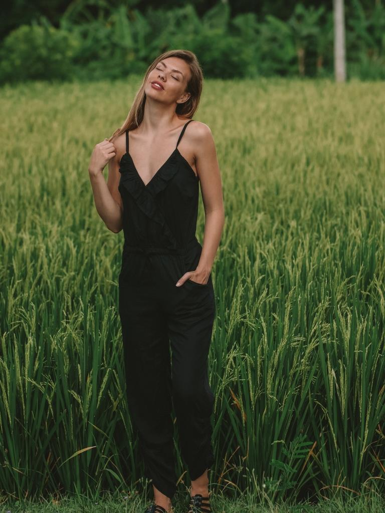 Chloe Jumpsuit | Black - Tiny Town Essentials