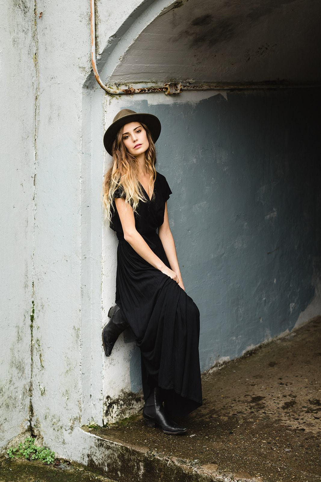 Stevie Maxi Skirt | Black - Tiny Town Essentials